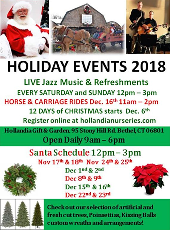 Holiday Events At Hollandia